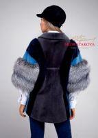 Меховая куртка из норки и лисы модель парки