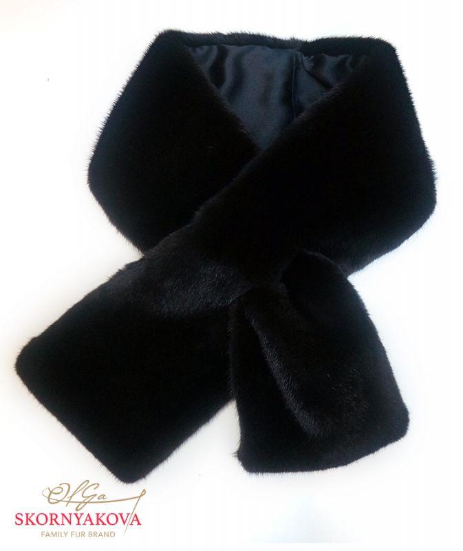 Шарф из норки черно-коричневый