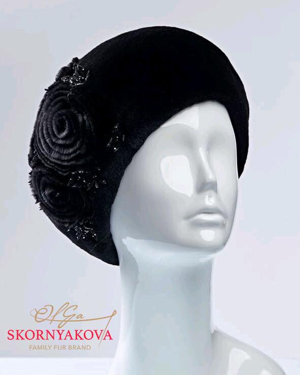 Норковая шапка -берет